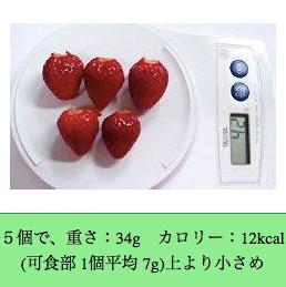 いちごは低カロリー
