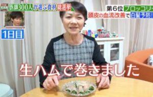 食べ方1「ブロッコリスプラウトの生ハム巻き」