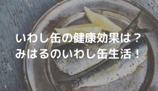 【梅ズバ】いわし缶の健康効果は?みはるのいわし缶生活!レシピも!