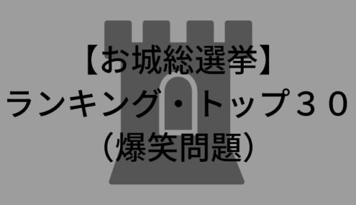 【お城総選挙】ランキング1位〜30位一気に!2019年第1位のお城は?(爆笑問題)