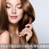 【2019年】テレビで紹介された抜け毛/薄毛/白髪改善対策のまとめ!