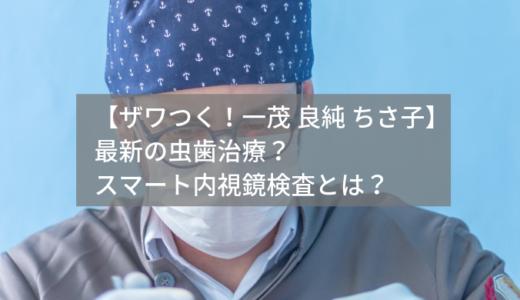 【ザワつく!一茂 良純 ちさ子】虫歯治療で痛みがない?スマート内視鏡検査も紹介!
