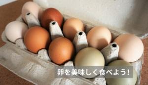 卵を美味しく食べよう