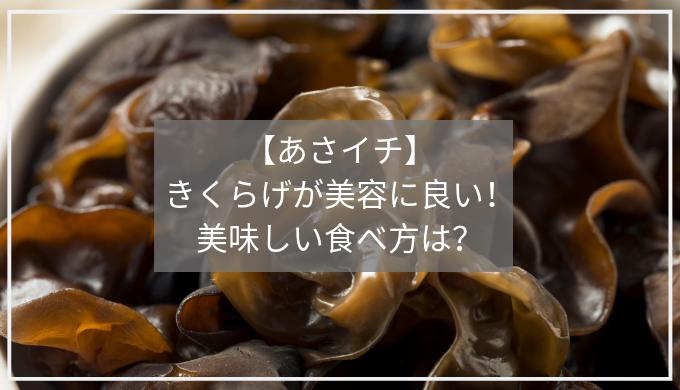 【あさイチ】 きくらげが美容に良い! 美味しい食べ方は?