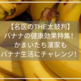 【名医のTHE太鼓判】 バナナの健康効果特集! かまいたち濱家も バナナ生活にチャレンジ!