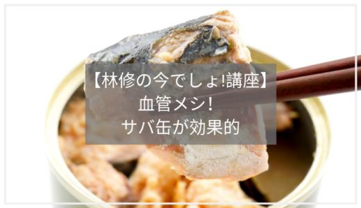 【林修の今でしょ!講座】サバ缶の味噌汁が血管に良い!美味しい食べ方のまとめ。
