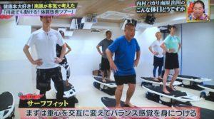 出川哲朗さんがサーフフィットをしている様子