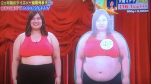 大橋さんのダイエット結果