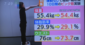 女性フタッフがピンク筋ダイエットにチャレンジ