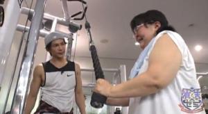 斎藤こず恵さんの筋肉ダイエットの様子