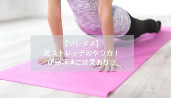 【ソレダメ】腸ストレッチのやり方!便秘解消に効果あり?