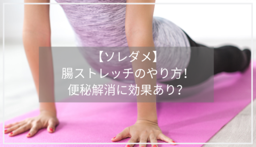 【ソレダメ】腸ストレッチのやり方4つ!便秘解消に効果的、伸ばしてゆるめて、お腹スッキリ!