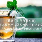 【教えてもらう前と後】麦茶は夏バテに効くパワードリンク!「うめはち麦茶」の作り方は?