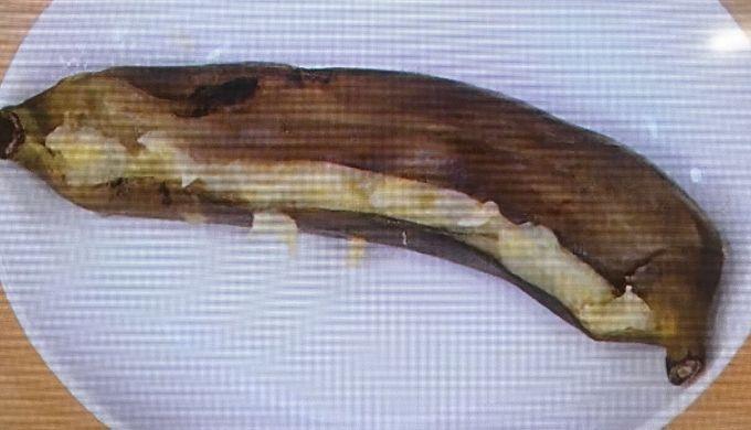 レンチンしたホットバナナ