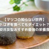 【マツコの知らない世界】おはぎを食べても太らない?安井友梨おすすめ最強の栄養食