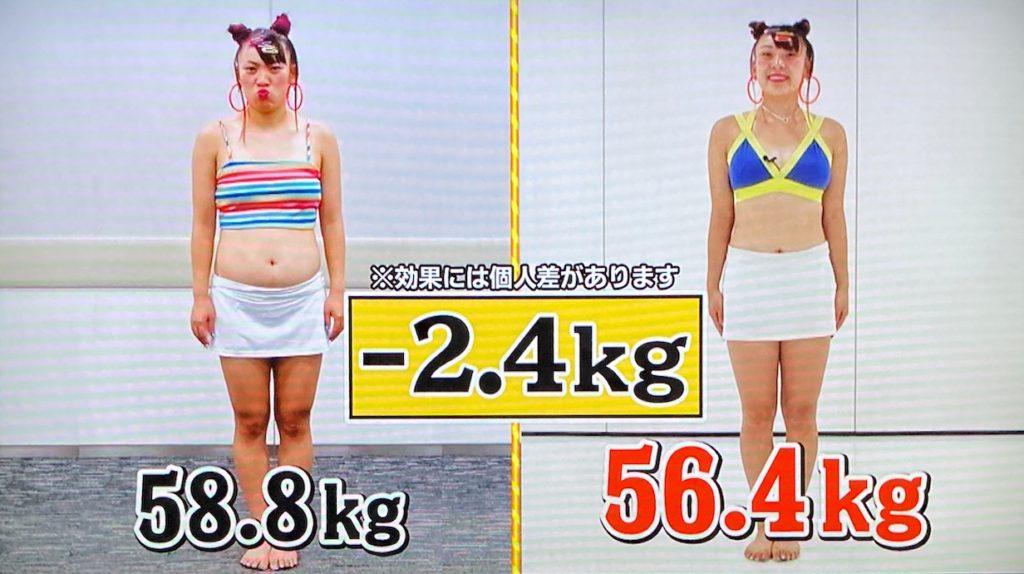 フワちゃんのダイエット結果、体重